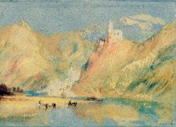 "William Turner ""Beilstein und Burg Metternich"" 14 x 19 cm"