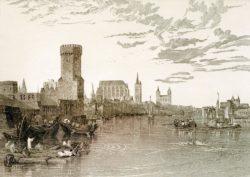 """William Turner """"Köln vom Fluß aus gesehen"""" 19 x 27 cm"""