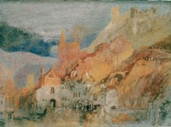 "William Turner ""Am Ende des Weges von Bernkastel nach Trarbach"" 14 x 19 cm"