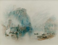 "William Turner ""Burgen am Rhein"" 17 x 21 cm"