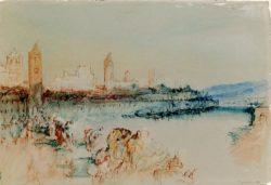 """William Turner """"Regensburg von der Brücke aus gesehen"""" 19 x 28 cm"""