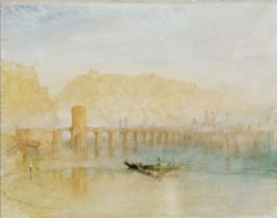 "William Turner ""Die Moselbrücke in Koblenz"" 24 x 30 cm"