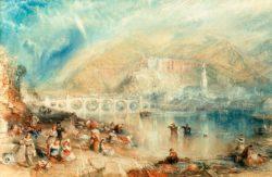 """William Turner """"Heidelberg mit einem Regenbogen"""" 31 x 52 cm"""