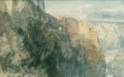 "William Turner ""Burg Katz"" 19 x 31 cm"
