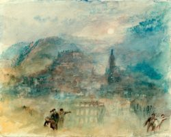 "William Turner ""Heidelberg, Mondlicht"" 24 x 30 cm"
