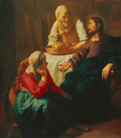 """Jan Vermeer """"Christus bei Maria und Martha"""" 142 x 160 cm"""