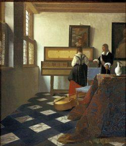 """Jan Vermeer """"Die Musikstunde"""" 65 x 74 cm"""