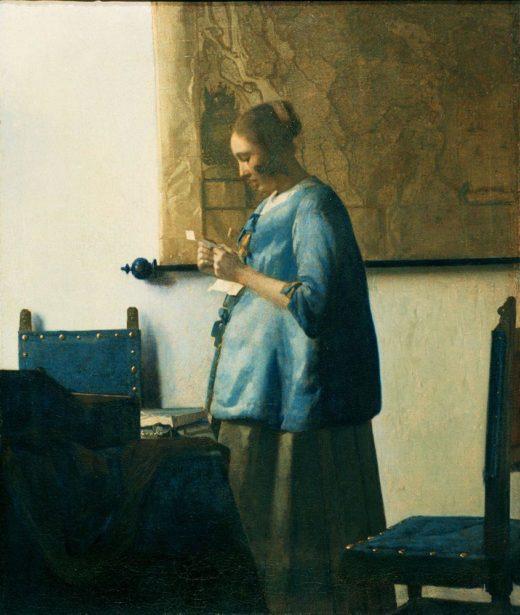 """Jan Vermeer """"Briefleserin in Blau"""" 39 x 57 cm 1"""