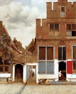 "Jan Vermeer ""Straße in Delft"" 44 x 54 cm"