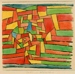 """Paul Klee """"Garten am Bach"""" 31 x 28 cm"""