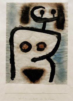 """Paul Klee """"Ein Antlitz auch des Leibes"""" 24 x 31 cm"""