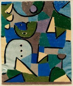 "Paul Klee ""Figur im Garten"" 43 x 50 cm"