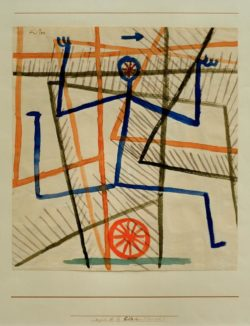 """Paul Klee """"Eile ohne Rücksicht"""" 30 x 32 cm"""