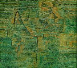 """Paul Klee """"Entlegene Landschaft"""" 41 x 41 cm"""