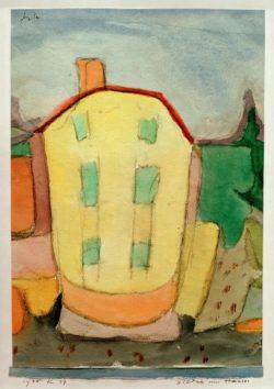 """Paul Klee """"Bildnis eines Hauses"""" 22 x 32 cm"""