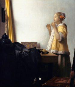 """Jan Vermeer """"Junge Dame mit Perlenhalsband"""" 45 x 55 cm"""