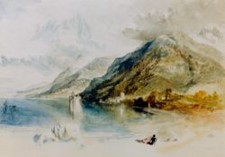 "William Turner ""Das Schloß von Chillon am Genfer See"" 24 x 33 cm"
