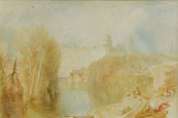 "William Turner ""Blick auf Warwick Castle"" 30 x 45 cm"