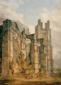 "William Turner ""Die St. Anselmskapelle in Canterbury"" 52 x 37 cm"