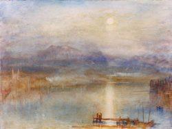 """William Turner """"Mondschein über Vierwaldstätter See"""" 23 x 31 cm"""