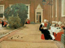 """Max Liebermann """"Amsterdamer Waisenmädchen"""" 90 x 67 cm"""