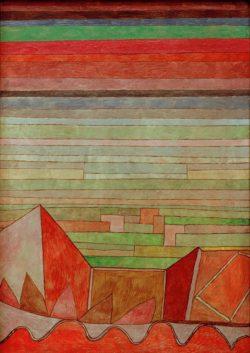 "Paul Klee ""Blick in das Fruchtland"" 35 x 49 cm"
