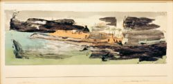 """Paul Klee """"Erinnerung an Auan"""" 52 x 17 cm"""