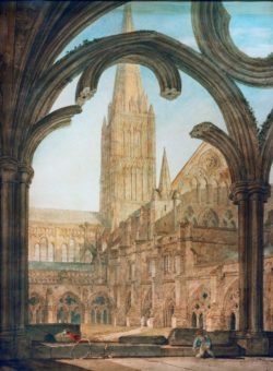 "William Turner ""Kreuzgang und Salisbury Kathedrale"" 68 x 60 cm"