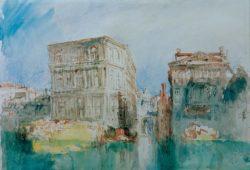 """William Turner """"Venedig: Die Casa Grimani und der Rio S. Luca"""" 22 x 32 cm"""