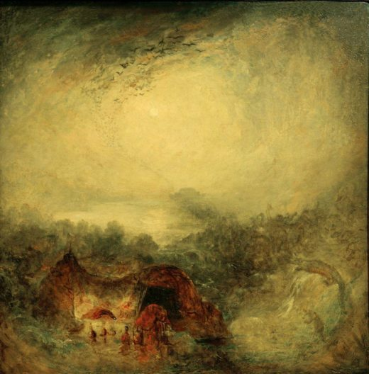 "William Turner ""Der Abend der Sintflut"" 76 x 76 cm 1"