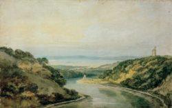 """William Turner """"Die Avon-Schlucht gegen den Kanal von Bristol"""" 31 x 48 cm"""