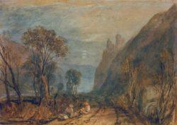 "William Turner ""Bautsburg am Rhein"" 23 x 32 cm"