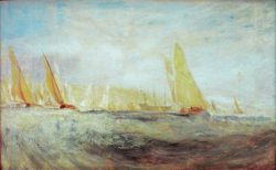 "William Turner ""Cowes, Die Regatta kreuzt auf"" 46 x 72 cm"