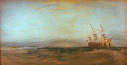 """William Turner """"Ein auf Grund gelaufenes Schiff"""" 70 x 136 cm"""