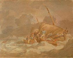 """William Turner """"Seeleute hieven Schweine an Bord"""" 22 x 28 cm"""