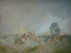 """William Turner """"Schiffahrt Themsemündung"""" 86 x 117 cm"""