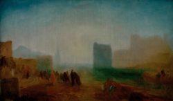 """William Turner """"Klassische Hafenszene"""" 60 x 102 cm"""