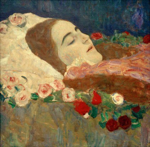 "Gustav Klimt ""Ria Munk auf dem Totenbett"" 51 x 50 cm 1"