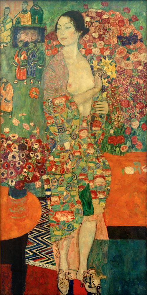 """Gustav Klimt """"Die Tänzerin"""" 90 x 180 cm 1"""