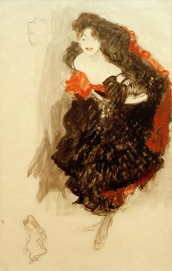 "Gustav Klimt ""Studie zu Judith II"" 35 x 54 cm"