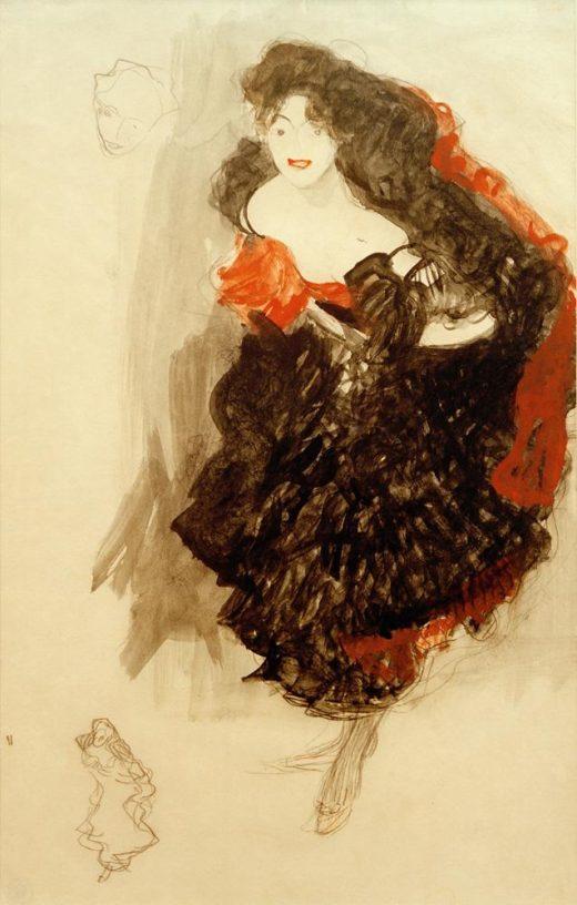 "Gustav Klimt ""Studie zu Judith II"" 35 x 54 cm 1"