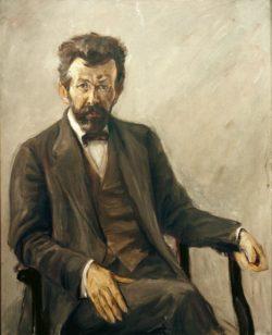 "Max Liebermann ""Der Dichter Richard Dehmel"" 92 x 115 cm"
