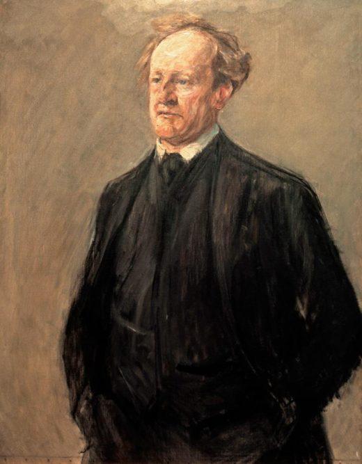 """Max Liebermann """"Porträt des Dichters Gerhart Hauptmann"""" 92 x 118 cm 1"""
