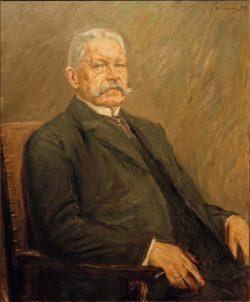 """Max Liebermann """"Bildnis des Reichspräsidenten Paul von Hindenburg"""" 93 x 112 cm"""