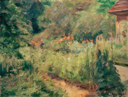 """Max Liebermann """"Der Nutzgarten in Wannsee nach Nordwesten"""" 95 x 72 cm"""