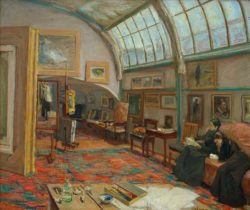 """Max Liebermann """"Das Atelier des Künstlers"""" 81 x 69 cm"""