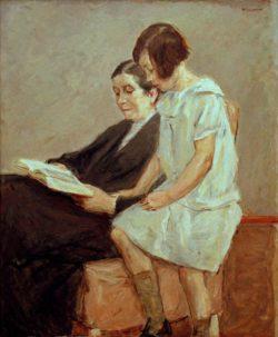 """Max Liebermann """"Die Gattin und Enkelin des Künstlers"""" 96 x 114 cm"""