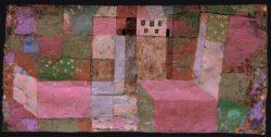 """Paul Klee """"Gartenhaus"""" 42 x 21 cm"""
