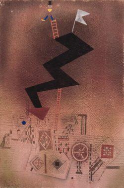 "Paul Klee ""Gebannter Blitz"" 30 x 44 cm"