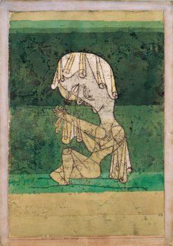 """Paul Klee """"Die Heilige"""" 31 x 45 cm"""